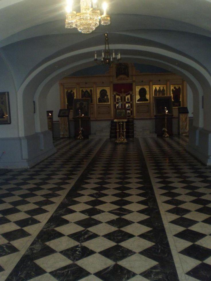 Eglise des Trois-Hiérarques - Intérieur - 11 Sixième ligne - Saint Petersbourg - Construite de 1740 à 1760 sur un projet de Giuseppe Trezzini.