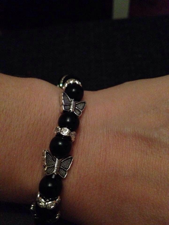 Armband fjärilar/ strass