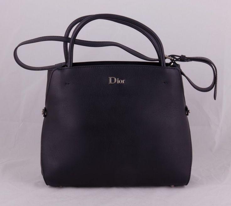 Сумка Dior черная из натуральной кожи