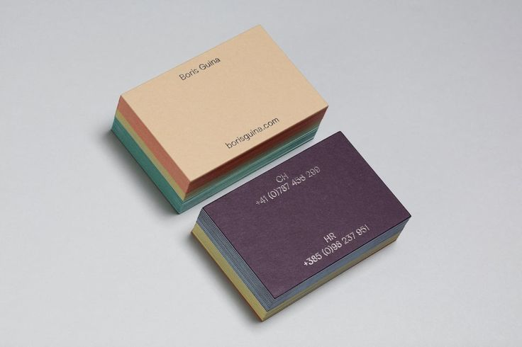 Boris Guina business cards by Bunch  http://mindsparklemag.com/design/boris-guina-business-cards/