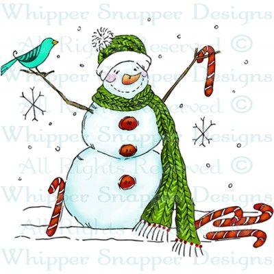 christmas.illustr.quenalbertini: Candy Cane Snowman