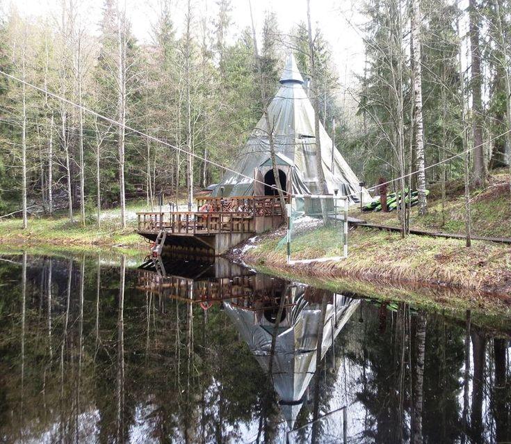 Inipi tepee Spa, Nuuksio National Park, Espoo, Finland