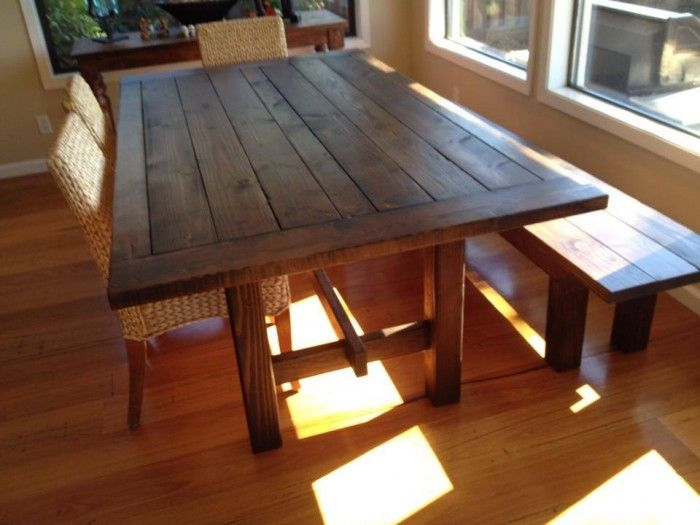 Superb Homemade Kitchen Table Ideas Part - 7: New Walnut Wood Dining Table U0026 Bench From Www.urbanminingcosf.com #homemade  #