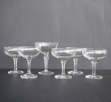 vintage champagne coupe glasses for hire for weddings and events