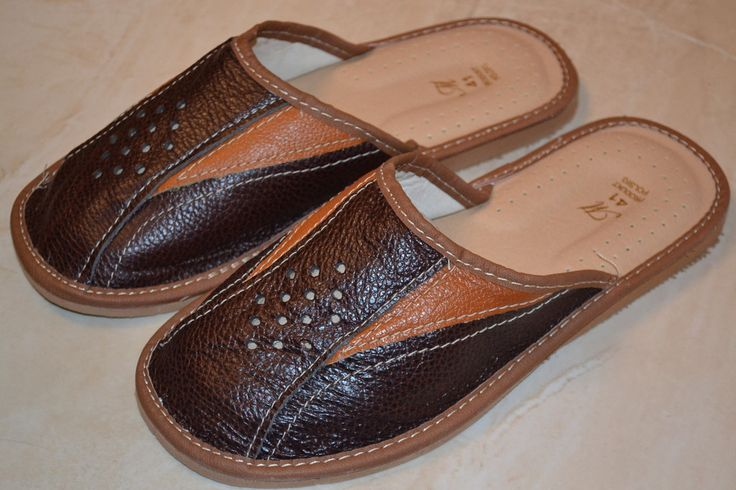 Mens Sheep Leather Slipper Orthopedic Handmade Kapcie