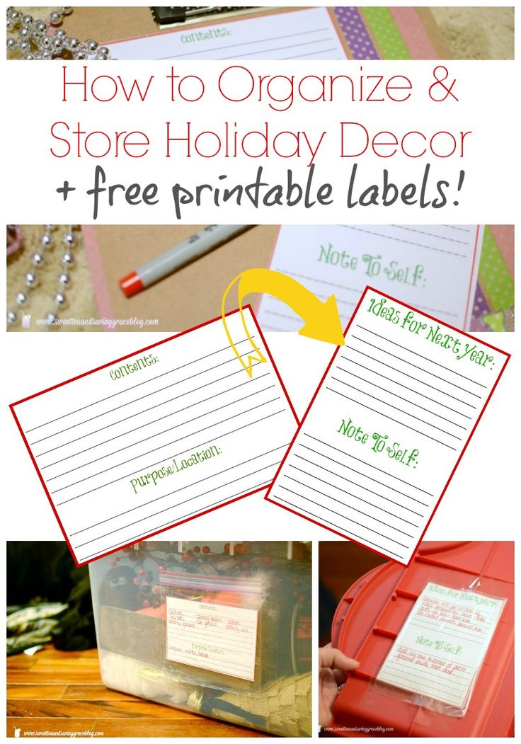 How To Organize And Store Your Holiday Decor Plus Free