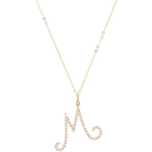 16 best letters images on pinterest diamond pendant cursive nephora nephora womens pave diamond m initial pendant necklace 650 liked aloadofball Choice Image
