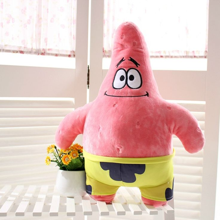 Factory direct sale sent great stars spongebob cartoon doll plush toys wholesale children's girlfriend gifts toys #Affiliate