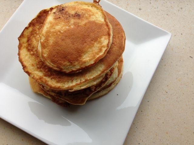 lidt om alt - og meget om mad: tykke og luftige LCHF-pandekager med hytteost