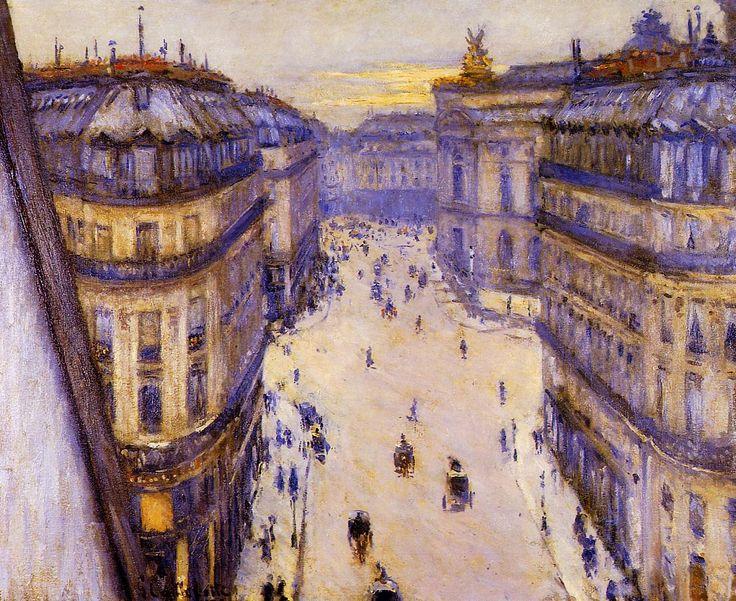 Gustave Caillebotte - Rue Halévy, vue d'un sixième étage - Gustave Caillebotte - Wikipedia