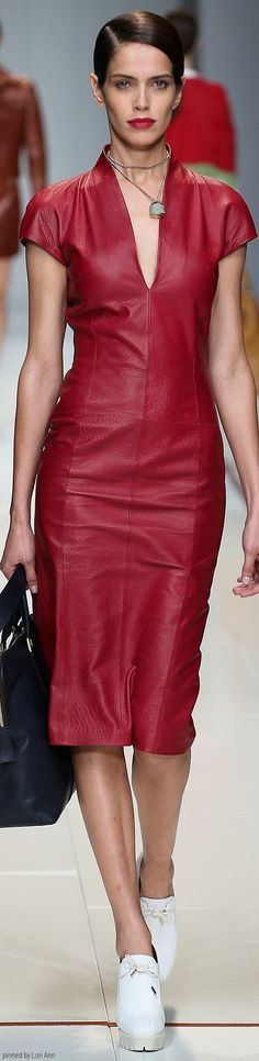 red leather dress @roressclothes closet ideas #women fashion outfit #clothing style apparel