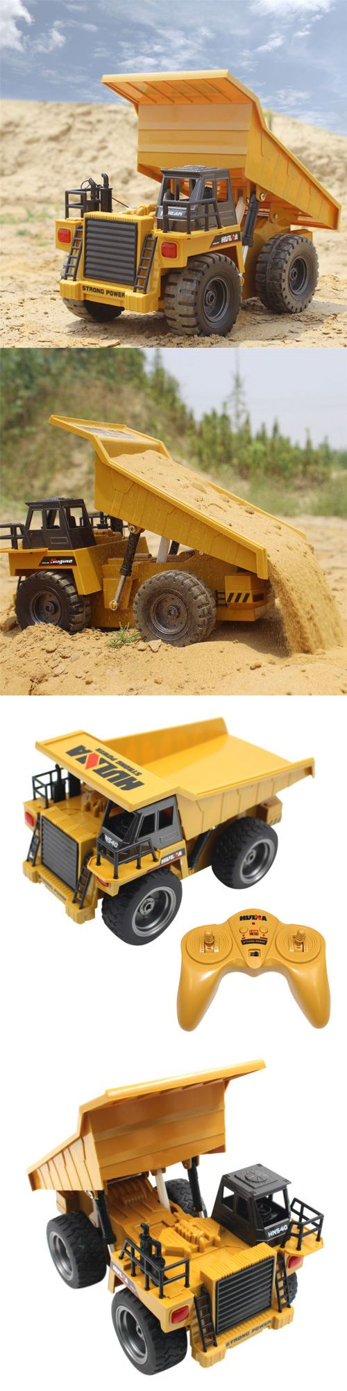 Industrial and Service Vehicles 182184: Huina 1540 6 Channel 1:18 2.4G Alloy Remote Control Dump Truck Rc Buggy Toy -> BUY IT NOW ONLY: $47.69 on eBay!