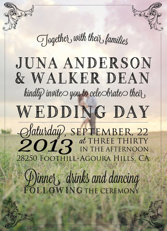 Wording so simple. Love. Include a information page and a RSVP stamped card.