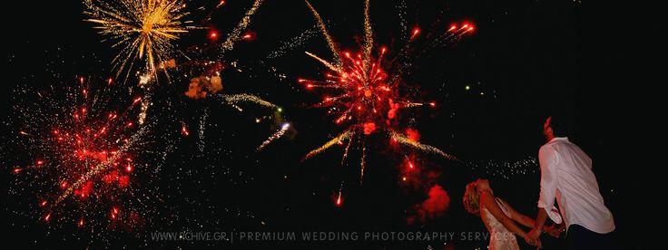 fireworks wedding greece