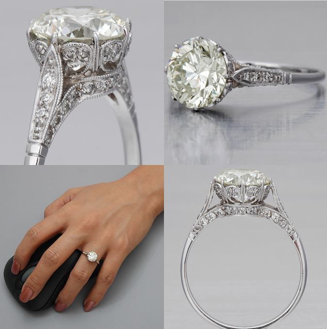 Edwardian setting, except I would put a sapphire for center stone. Fay Cullen - Edwardian Engagement Ring http://www.faycullen.com/