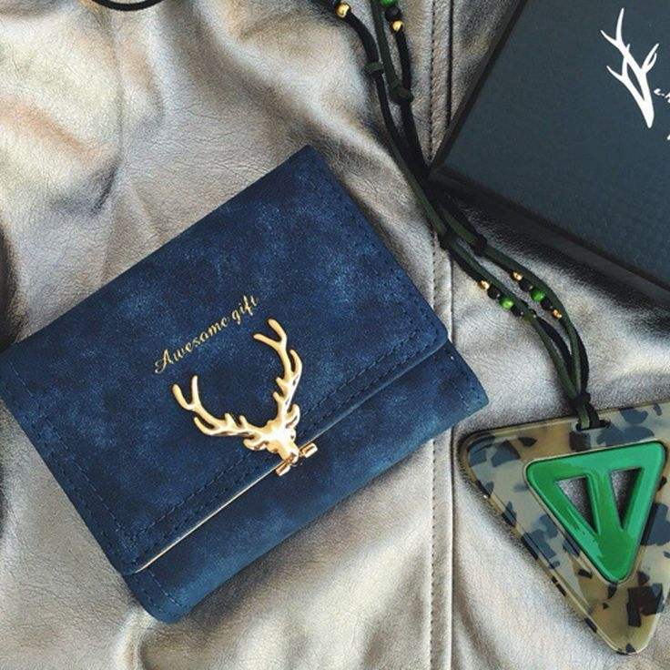 Choir Latest Christmas Deer Women Leather Wallet VintageTri-Folds Luxury Cash  Purse Girl Small Black Clutch coin purses holders #wallet #purse #clutch