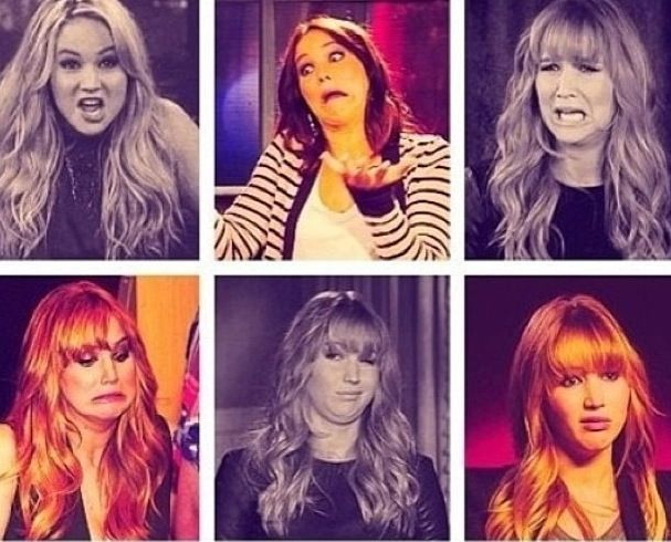 Jennifer lawrence funny face collage