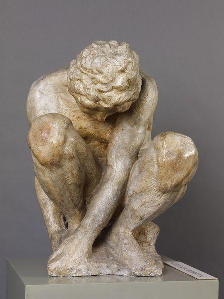 Crouching Boy by Michelangelo