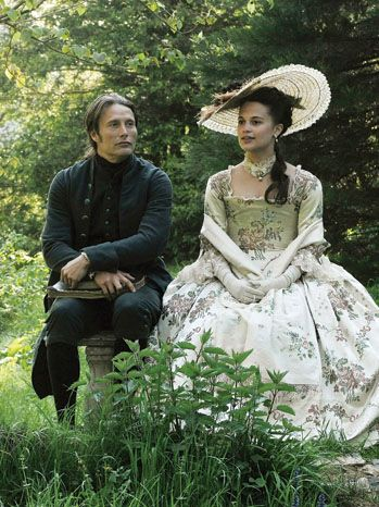 Loved this film! Denmark's A Royal Affair was an EXCELLENT movie based on the real life scandalous relationship between George III's sister and the weak-minded King of Denmark.  The costumes are incredible - showing the contrast between the royal Caroline and her middle class, reformist lover, Dr. Struensee.