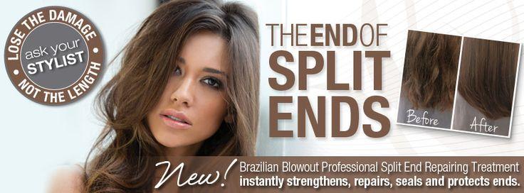@BrazilianBlowout  Split Ends Repair System. Kiss Split Ends Goodbye! - Christina Sanchez Hair Design #hair #salon
