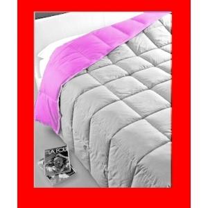 Piumino in microfibra fucsia grigio 2 colori double face per letto matrimoniale - SATURNOStore