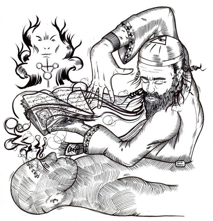 Nello Caiazza - Golem illustration - Massoneria Creativa - www.massoneriacreativa.com