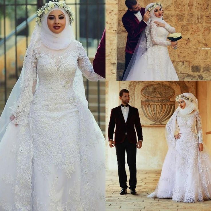 Elegant Two Pieces Lace Arab Wedding Dress Sheath 2017: 1000+ Ideas About Muslim Wedding Dresses On Pinterest