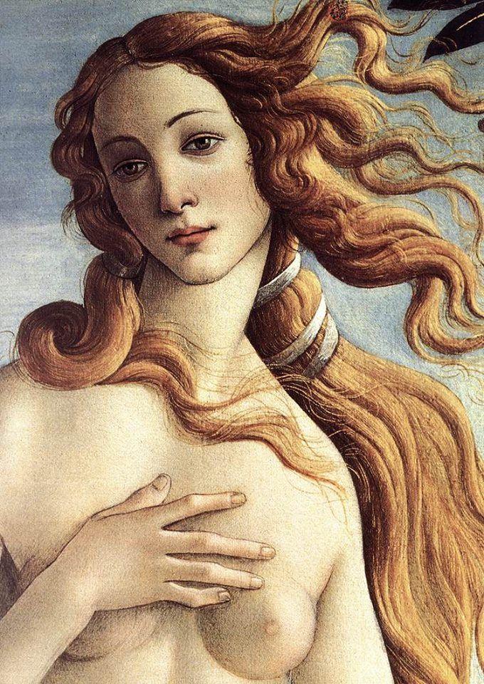 """""""Szépnek lenni annyi, mint ártatlannak lenni, a szó hősies értelmében. Minden más csak kozmetika.""""  - Márai Sándor   Festmény: Sandro Botticelli: Vénusz születése (részlet) (1485) Uffizi Képtár, Firenze"""