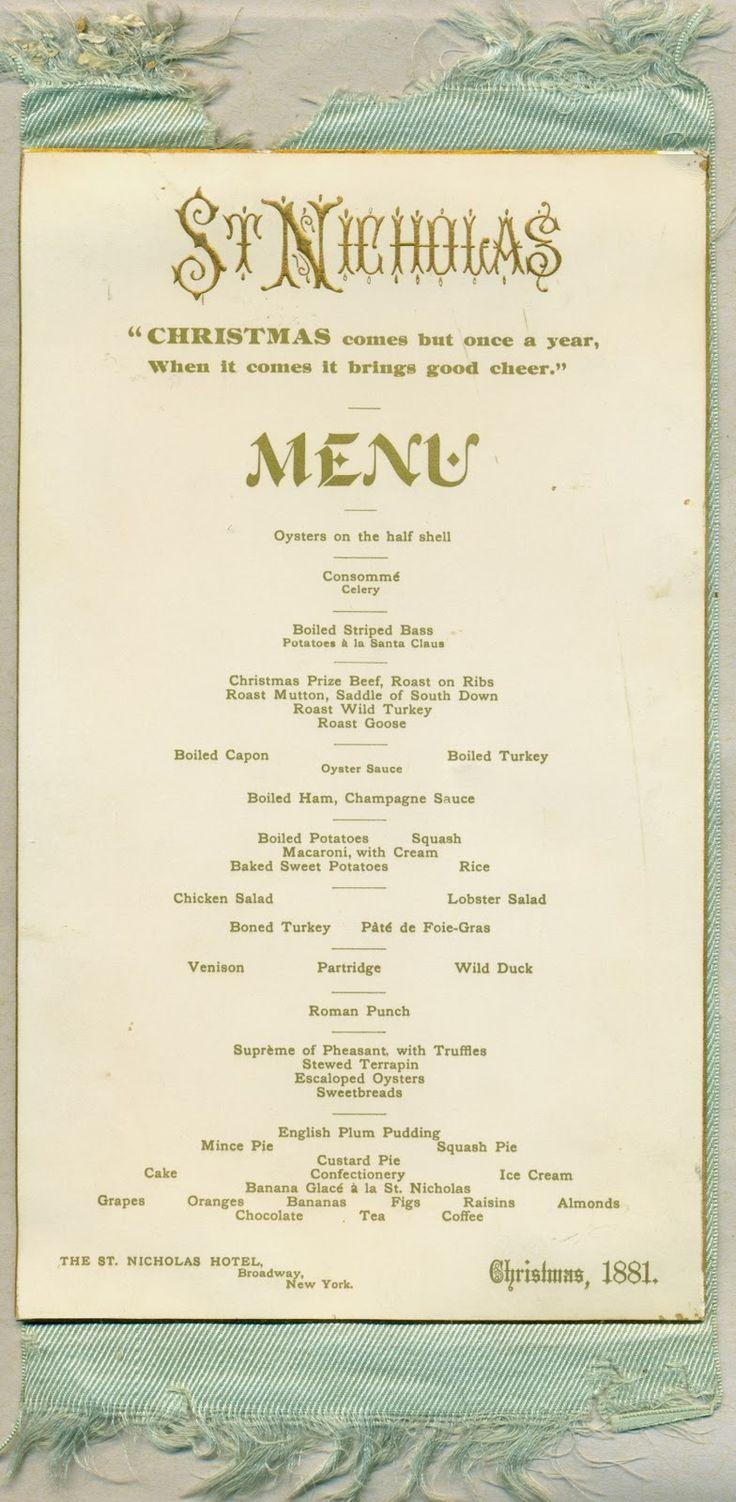 58 best images about vintage holiday hotel menu 39 s on pinterest - Christmas menu pinterest ...