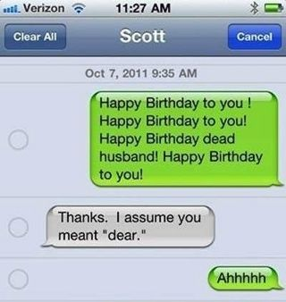 #funny_birthday_fail because of one #smart_autocorrect