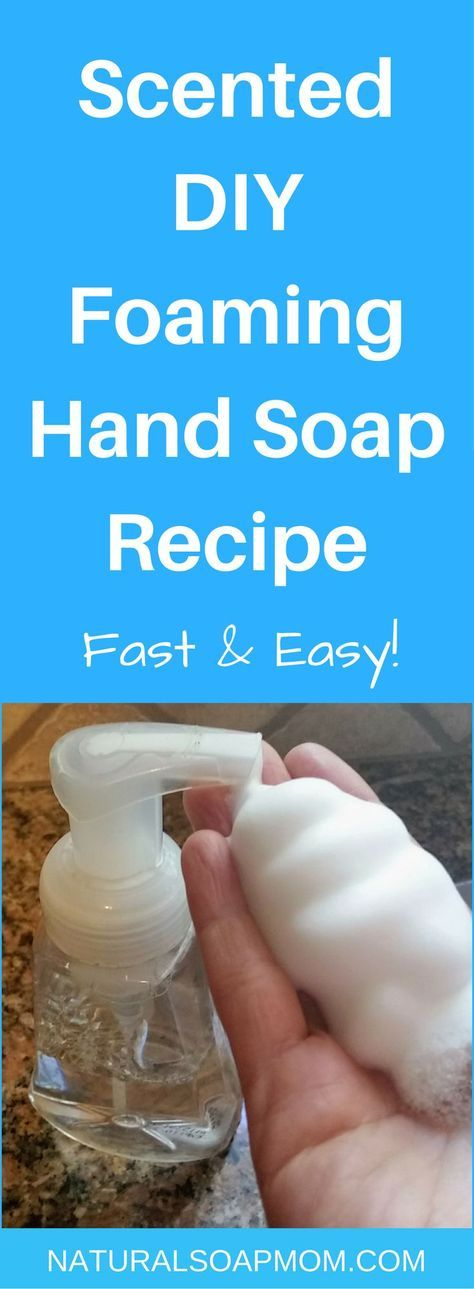 Super Simple DIY Foaming Hand Soap recipe with only two ingredients. My 5-year-old whips it up in a flash and you can too. Find out how - click now.