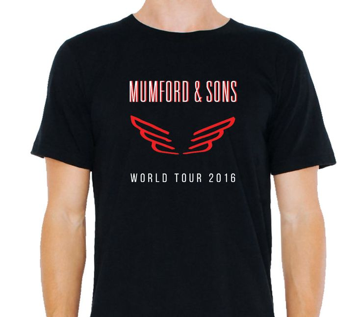 Hot Sales2017 Cool Mumford And Sons World Tour 2016 3D Printed Men's 100% Cotton Short Sleeve Tees High Quality T Shirt #Affiliate