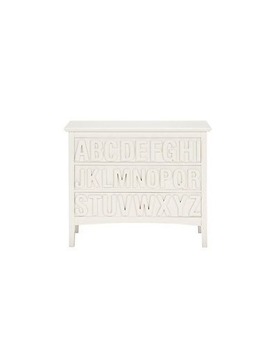 Hastings Ivory ABC 3 Drawer Chest | M&S