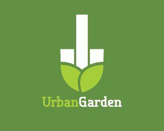 Urban Garden Logo Design   Any City Gardening Services Company.City  Council. Environmental Initiative