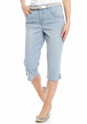 Gloria Vanderbilt  Petite Lexi Belted Skimmer Pants