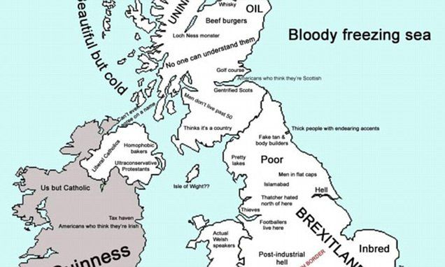Offensive UK stereotypes map reveals what your home town is known for