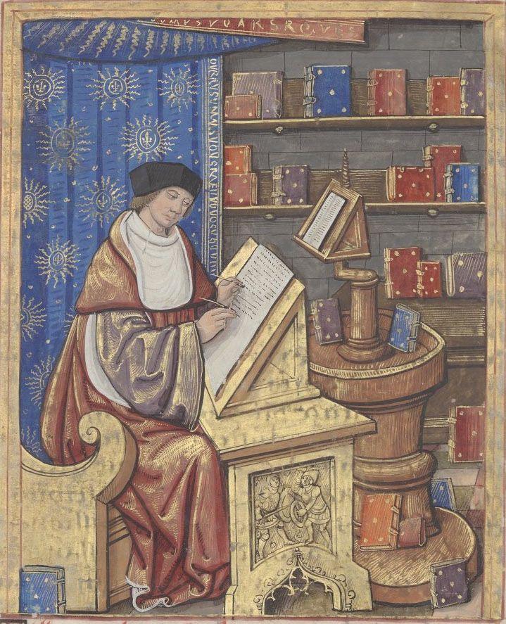 Bibliothèque nationale de France, Français 17211, f. 1r. Thucydides. Histoire de la guerre du Péloponnèse Volume 1 (French translation by Claude de Seyssel).