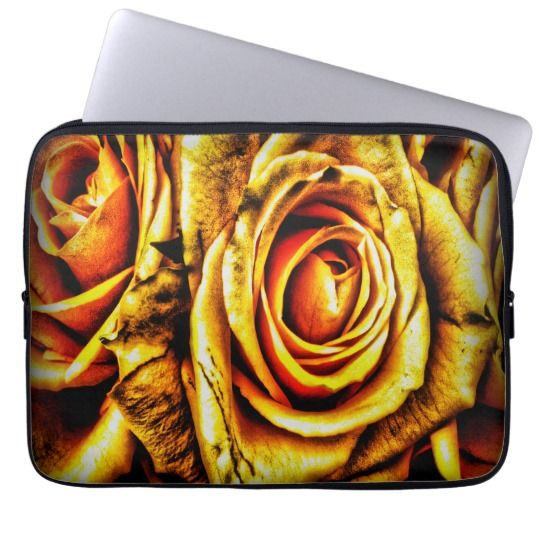 "Golden Rose 13"" Laptop Sleeve $27.95"