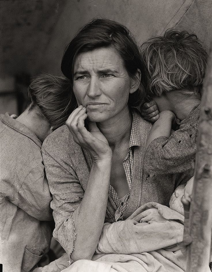 The History Place - Dorothea Lange Photo Gallery: Toll of Uncertainty: Destitute Pea Pickers