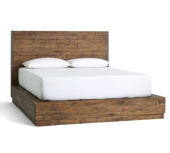 big daddys antiques reclaimed wood bed pottery barn - Reclaimed Wood Bed Frame