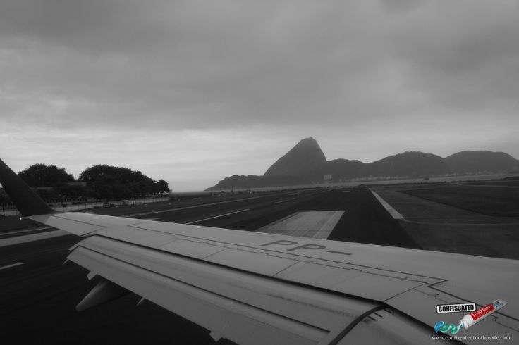 "Landing at Galeao Airport- one of the most spectacular descents.  ""The Truth about Flying"": http://www.confiscatedtoothpaste.com/the-truth-about-flying/"