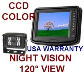 """5"""" LCD COLOR REAR VIEW BACKUP CAMERA SYSTEM WITH NIGHT VISION"""