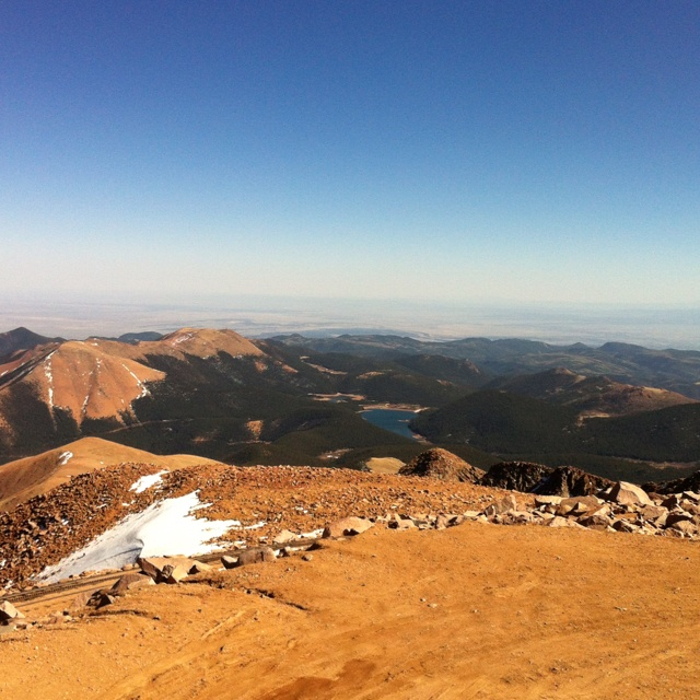The top of Pikes Peak,   Colorado Springs- been there