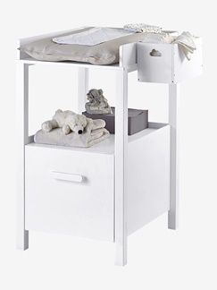 Table à langer avec tiroir Variety blanc
