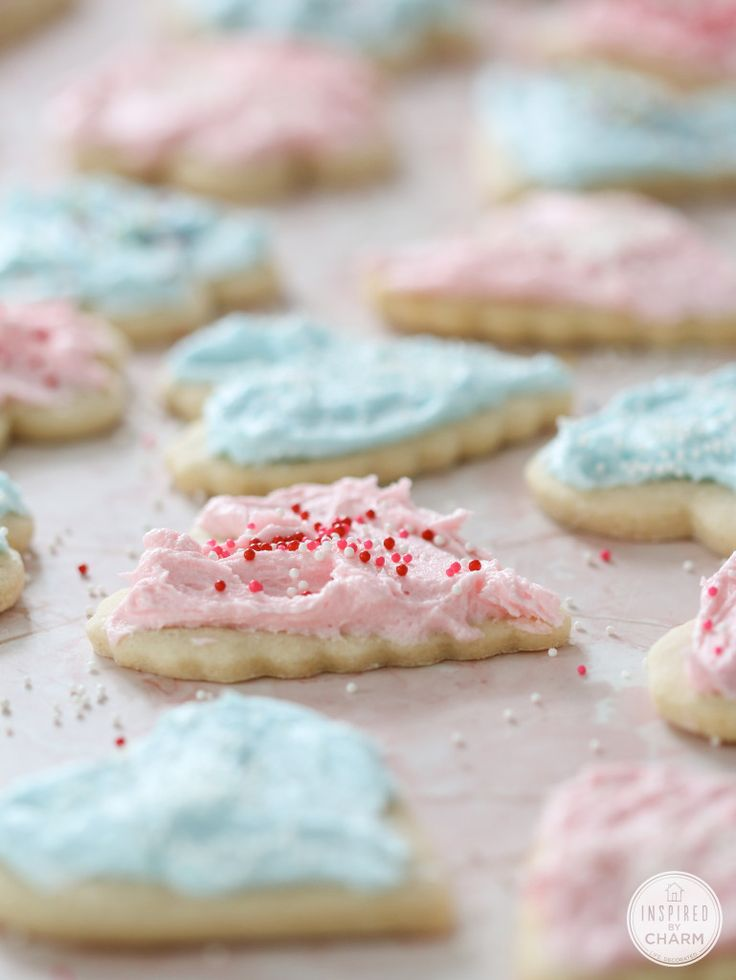 Sugar Cookies with Cotton Candy Frosting