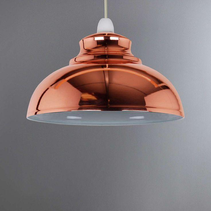 Cosy Skandi Appleton Galley Copper Pendant Dunelm Copper Lighting Rose Gold Light Shade