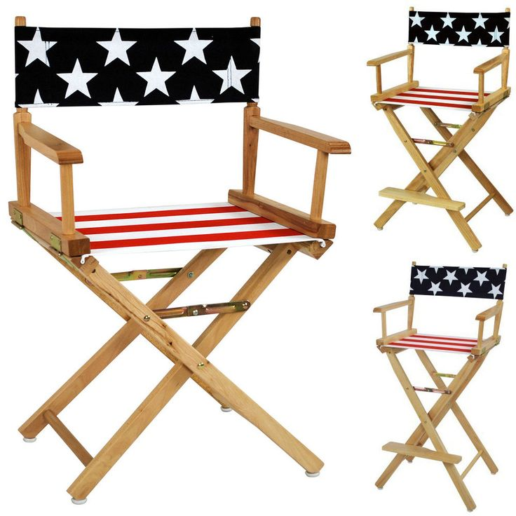 american flag cotton duck canvas seat cover solid wood 182430h director chair