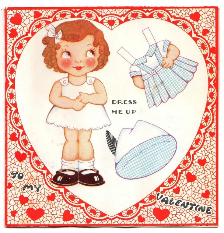 80 best Paper Doll Valentine images on Pinterest | Vintage ...