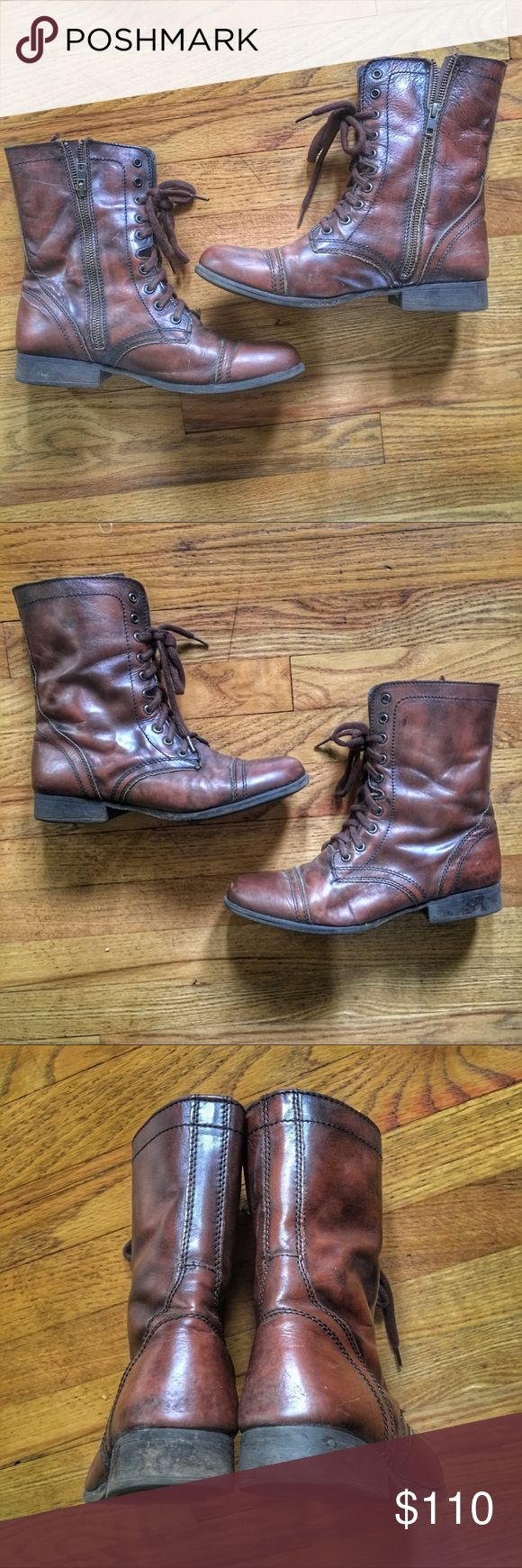 Steve Madden mid-calf Leather Boots - retails $110 Steve Madden Mid-calf Zip-up Leather Boots.  Pre-owned worn a couple times.  Retails $110. Get it cheaper on Ⓜ️erc.  See something you like but it's not here next week? We sell in store and across multiple platforms, so items go quick! If you're interested, act on it before you lose it! Steve Madden Shoes Ankle Boots & Booties