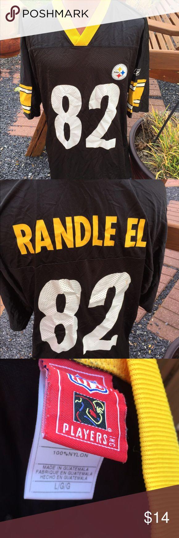 Steelers Antwaan Randle El Reebok Jersey Size L Size large. Does have a few spots as shown. Reebok Shirts